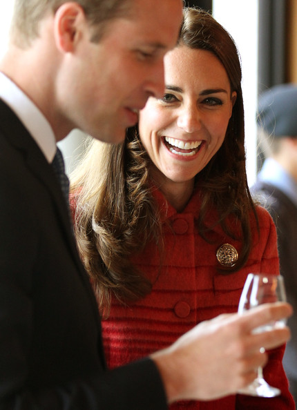Catherine, Duchess of Cambridge and Prince William, Duke of Cambridge taste whisky during a tour of The Famous Grouse Distillery on May 29, 2014 in Crieff, Scotland. The Duke and Duchess of Cambridge will spend the day in Scotland where they will tour a distillery and visit a village fete.