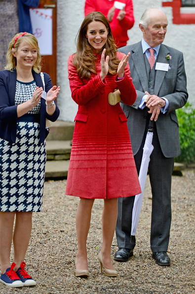 Prince William, Duke of Cambridge and Catherine, Duchess of Cambridge attend Forteviot village fete on May 29, 2014 in Forteviot, Scotland. The Duke and Duchess of Cambridge will spend today in Scotland where they toured a distillery and visited a village fete.