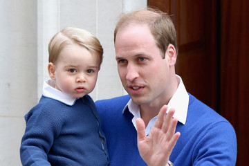 Prince George Arrives to Meet His New Sister