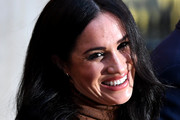 Meghan, Duchess of Sussex during her visit with Prince Harry, Duke of Sussex to Canada House in thanks for the warm Canadian hospitality and support they received during their recent stay in Canada, on January 7, 2020 in London, England.