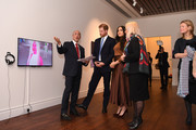 Prince Harry, Duke of Sussex and Meghan, Duchess of Sussex view a special exhibition of art by Indigenous Canadian artist, Skawennati, in the Canada Gallery during their visit to Canada House in thanks for the warm Canadian hospitality and support they received during their recent stay in Canada, on January 7, 2020 in London, England.