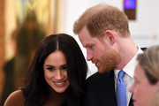 Prince Harry, Duke of Sussex and Meghan, Duchess of Sussex during their visit to Canada House in thanks for the warm Canadian hospitality and support they received during their recent stay in Canada, on January 7, 2020 in London, England.