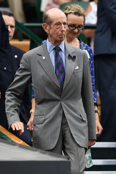 Day Twelve: The Championships - Wimbledon 2018 [prince edward,suit,fashion,outerwear,formal wear,blazer,facial hair,event,white-collar worker,recreation,beard,wimbledon,wimbledon lawn tennis championships,kent,england,london,all england lawn tennis and croquet club]