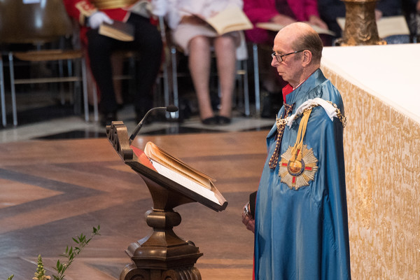 HM Queen Attends A Service Marking The Most Distinguished Order Of St George [deacon,event,priesthood,cope,presbyter,tradition,religious institute,middle ages,ceremony,cathedral,prince edward,elizabeth ii,queen,service,commemoration,service,dedication,attends a service marking the most distinguished order of st george,hm,anniversary]