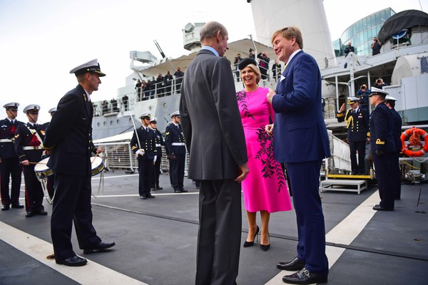 State Visit Of The King And Queen Of The Netherlands - Day Two [official,event,uniform,bodyguard,ceremony,military officer,security,vehicle,tourism,maxima,willem-alexander,queen,prince edward,beatrix,claus,c,netherlands,the king and queen of the netherlands,state visit]