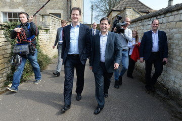 Duncan Hames Liberal Democrat Leader Nick Clegg Out On The Campaign Trail