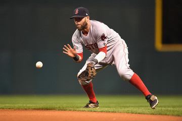 Dustin Pedroia Division Series - Boston Red Sox v Cleveland Indians - Game Two