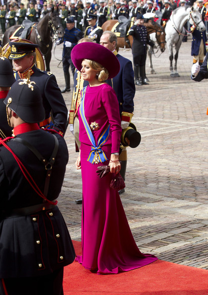 Princess Maxima of the Netherlands and Crown Prince Willem Alexander (L) of The Netherlands attend the Budget Day announcement on September 18, 2012 in The Hague, Netherlands.