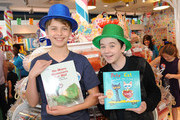 Actors Jacob Hopkins and Benjamin Stockham attend Dylan's Candy Bar and Milk + Bookies Partner for The LA Launch of the 50th anniversary Charlie and the Chocolate Factory Capsule Collection at The Grove on January 24, 2015 in Los Angeles, California.