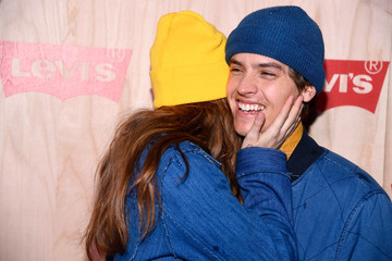 Dylan Sprouse Barbara Palvin Levi's Times Square Store Opening