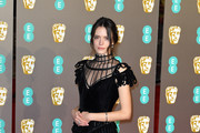 Stacy Martin attends the EE British Academy Film Awards at Royal Albert Hall on February 10, 2019 in London, England.