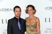 Actors Sam Rockwell (L) and Hilary Swank arrive at ELLE's 17th Annual Women in Hollywood Tribute at The Four Seasons Hotel on October 18, 2010 in Beverly Hills, California.