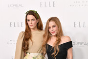 Riley Keough and Lisa Marie Presley attend ELLE's 24th Annual Women in Hollywood Celebration presented by L'Oreal Paris, Real Is Rare, Real Is A Diamond and CALVIN KLEIN at Four Seasons Hotel Los Angeles at Beverly Hills on October 16, 2017 in Los Angeles, California.