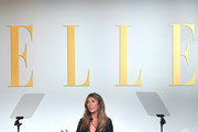 ELLE Editor-in-Chief Nina Garcia speaks onstage during ELLE's 26th Annual Women In Hollywood Celebration Presented By Ralph Lauren And Lexus at The Four Seasons Hotel Los Angeles on October 14, 2019 in Beverly Hills, California.