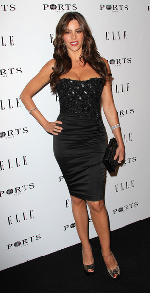 Actress Sofia Vergara attends ELLE's Inaugural Women in Television Celebratory Dinner at the Soho House on January 27, 2011 in West Hollywood, California.