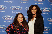 Singer Keri Hilson (R) and Dee Guerrero at the ESSENCE + Ford My City 4 Ways - Houston  at White Oak Music Hall on December 01, 2018 in Houston, Texas.