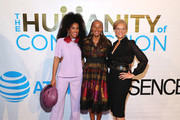 "MoAna Luu, Susan L. Taylor, and Tonya Lewis Lee attend ESSENCE & AT&T ""Humanity Of Connection"" event at New York Historical Society on June 10, 2019 in New York City."