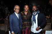 "Rev. Al Sharpton, National Action Network Founder & President, Susan L. Taylor, Founder & CEO, National CARES Mentoring Movement; Editor-in-Chief Emerita of ESSENCE Magazine and Richelieu Dennis, ESSENCE Ventures Chairman  attend ESSENCE & AT&T ""Humanity Of Connection"" event at New York Historical Society on June 10, 2019 in New York City."