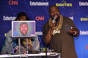 Music artists (L-R) DJ Cool V and Biz Markie perform at EW & CNN The Eighties Trivia Event at The Django at the Roxy Hotel on March 29, 2016 in New York City.