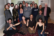 "Actors Neil Casey, John Gemberling, Camille Guaty, Lonny Ross, Annette O'Toole, Jackie Thon, Elvy Yost, Rick Glassman, Rick Overtone, Joe Lo Truglio, Matt Lucas, Seth Green, director David Wain and  producers Jonathan Stern, Peter Princiato attend the cast and crew screening of ""A Futile And Stupid Gesture"" hosted by EW and Netflix at The London West Hollywood Hotel on January 26, 2018 to celebrate the launch in West Hollywood, California."