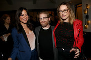 "Actors Camille Guaty, Seth Green and Clare Grant attend the cast and crew screening of ""A Futile And Stupid Gesture"" hosted by EW and Netflix at The London West Hollywood Hotel on January 26, 2018 to celebrate the launch in West Hollywood, California."