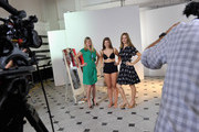 (EXCLUSIVE COVERAGE)   Susannah Constantine and Trinny Woodall during a video shoot for their original Magic Knickers range on July 18, 2011 in London, England.