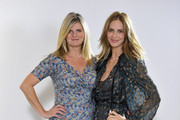 (EXCLUSIVE COVERAGE)   (L-R) Susannah Constantine and Trinny Woodall pose during a video shoot for their original Magic Knickers range on July 18, 2011 in London, England.