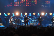 (L-R) Vince Gill, Timothy B. Schmit, Don Henley, Scott F. Crago, Deacon Frey and Joe Walsh of the Eagles perform at MGM Grand Garden Arena on September 27, 2019 in Las Vegas, Nevada.