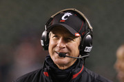 Tommy Tuberville the head coach of the Cincinnati Bearcats wathches the action against the East Carolina Pirates during the game at Paul Brown Stadium on November 13, 2014 in Cincinnati, Ohio.