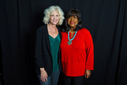 Nancy Allen and Chaz Ebert pose for a portrait at the 2016 Ebertfest on April 16, 2016 in Champaign, Illinois