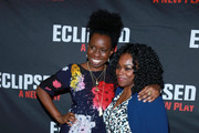 "Actors Adepero Oduye (L) and Stacey Sargeant attend the ""Eclipsed"" broadway opening night at The Golden Theatre on March 6, 2016 in New York City."
