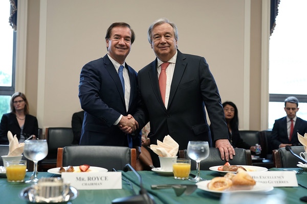 House Foreign Affairs Chairman Ed Royce Hosts Committee Meeting With United Nations  Secretary General Antonio Guterres