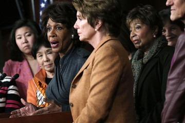 Eddie Bernice Johnson Nancy Pelosi Holds Weekly Press Conference At The Capitol