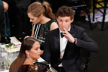Eddie Redmayne Alicia Vikander The 22nd Annual Screen Actors Guild Awards - Backstage and Audience