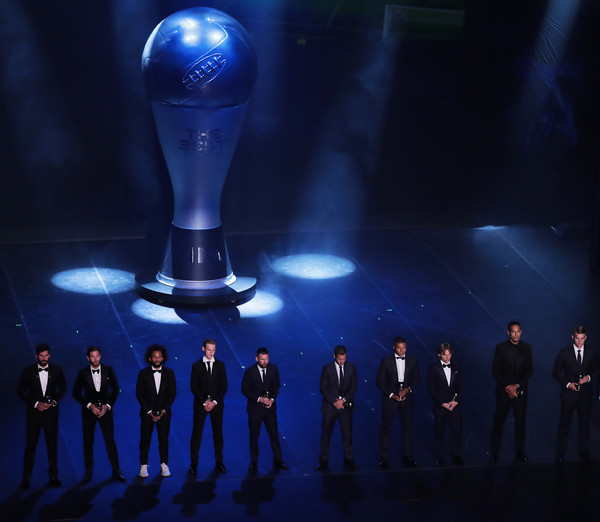 The Best FIFA Football Awards 2019 - Show [cobalt blue,performance,stage,electric blue,theatre,event,performance art,suit,performing arts,formal wear]