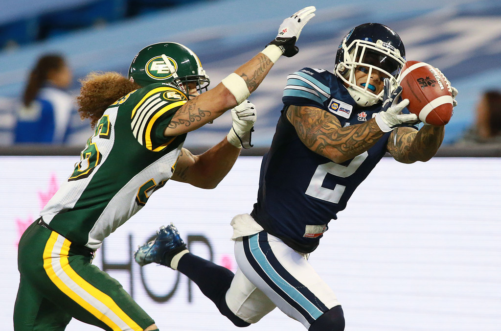 chad owens photos photos edmonton eskimos v toronto. Black Bedroom Furniture Sets. Home Design Ideas