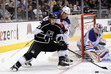 Andy Sutton Edmonton Oilers v Los Angeles Kings