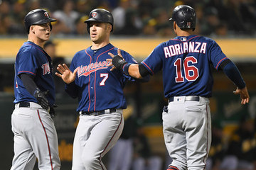 Ehire Adrianza Minnesota Twins v Oakland Athletics