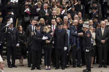 Eileen Davidson Funeral Held For NYC Firefighter Killed In The Line Of Duty