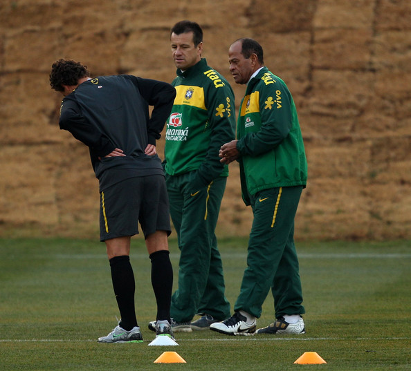 Elano and Paulo Paixao - Brazil Training & Press Conference - 2010 FIFA World Cup