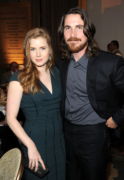 Actors Amy Adams (L) and Christian Bale attend the Eleventh Annual AFI Awards reception at the Four Seasons Hotel on January 14, 2011 in Los Angeles, California.