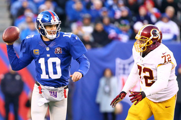 Eli Manning Washington Redskins v New York Giants