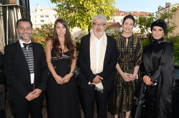 'The Salesman (Forushande)' Dinner - The 69th Annual Cannes Film Festival [social group,event,formal wear,forushande,fatma al remaihi,chadi zeneddine,lauren mekhael,elia suleiman,the salesman,l-r,doha film institue,cannes film festival,dinner]