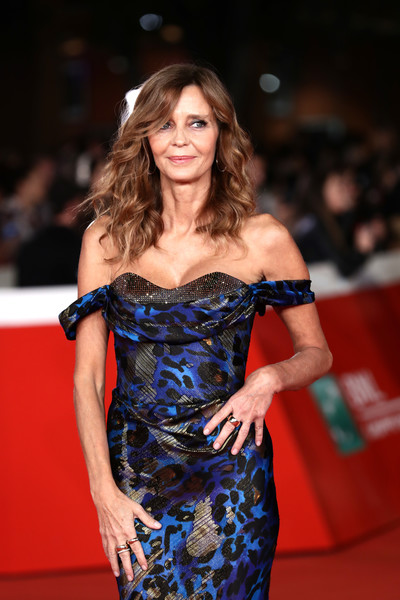 'Downton Abbey' Red Carpet - 14th Rome Film Fest 2019 [downton abbey,clothing,red carpet,fashion model,carpet,premiere,shoulder,dress,fashion,hairstyle,long hair,eliana miglio,red carpet,rome,italy,red carpet,rome film fest 2019,rome film festival]