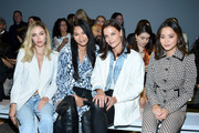 Delilah Belle Hamlin, Chanel Iman, Katie Holmes and Jamie Chung attend the Ellie Tahari front row during New York Fashion Week: The Showsat Gallery II at Spring Studios on September 05, 2019 in New York City.