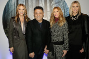 (L-R) Heather Thomson, designer Elie Tahari,  Carole Radziwill and Kristen Taekman attend the Elie Tahari presentation during Mercedes-Benz Fashion Week Fall 2015 at 510 Fifth Avenue on February 17, 2015 in New York City.