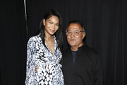 Chanel Iman and Elie Tahari attend Elie Tahari Spring / Summer 2020 Runway Show at Gallery II at Spring Studios on September 05, 2019 in New York City.