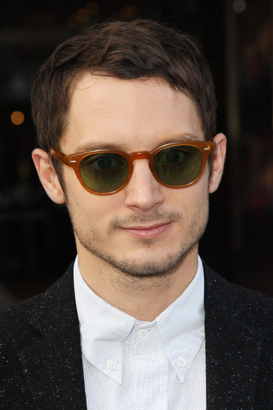 Elijah Wood (UK TABLOID NEWSPAPERS OUT) Elijah Wood attends the European premiere of Happy Feet Two at The Empire Leicester Square on November 20, 2011 in London, United Kingdom.