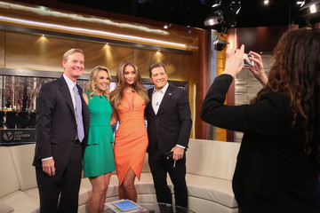 Elisabeth Hasselbeck Hannah Davis Visits 'FOX and Friends'