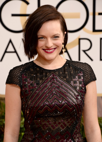Elisabeth Moss - 71st Annual Golden Globe Awards - Arrivals